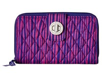 Vera Bradley Turn Lock Wallet Impressionista Stripe Wallet Handbags Purple