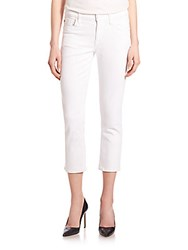 Hudson Fallon Skinny Extra Cropped Jeans White