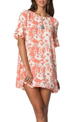 O'neill Women's X Natalie Off Duty Isabella Dress Coral