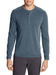 Eddie Bauer Contour Performance Long Sleeve Henley Chambray