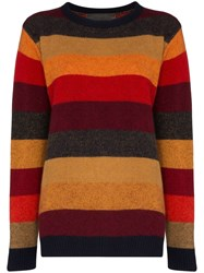 The Elder Statesman Striped Cashmere Jumper Multicoloured
