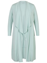 Chesca Shawl Collar Jersey Coat Aqua