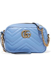 Gucci Gg Marmont Camera Mini Quilted Leather Shoulder Bag Sky Blue