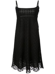 Marc Jacobs Embroidered Strappy Dress Black
