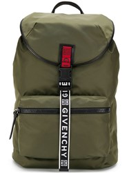Givenchy 4G Logo Backpack Green