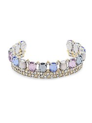 Alexis Bittar Multi Crystal Cuff Bracelet No Color
