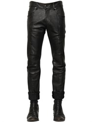 Balmain 17Cm Biker Textured Leather Pants
