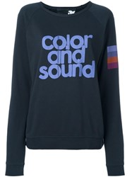 Freecity Color And Sound Print Sweatshirt Blue