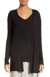 Lafayette 148 New York Women's Ribbed Open Cardigan