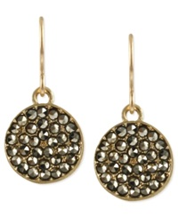Kenneth Cole New York Earrings Gold Tone Glass Crystal Circle Drop Earrings