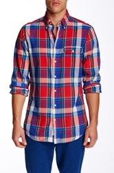 Gant L. Sunset Madras Check Long Sleeve Fitted Shirt Red