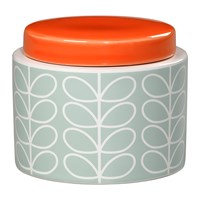 Orla Kiely Linear Stem Storage Jar Duck Egg Small