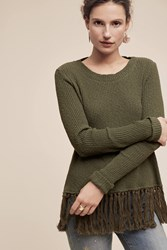 Anthropologie Tasseled Malla Pullover Holly
