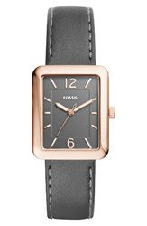 Fossil Women's Atwater Leather Strap Watch 28Mm Black Rose Gold