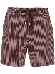 The Upside Striped Shorts Red