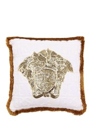 Versace Logomania Medusa Pillow White