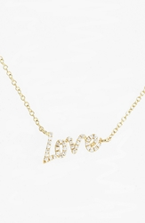 Meirat 'Dazzling' Diamond Love Pendant Necklace Yellow Gold