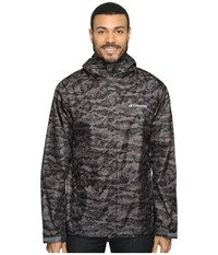 Columbia Watertight Printed Jacket Shark Camo Men's Coat Black