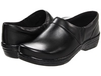 Klogs Usa Mission Black Smooth Leather Women's Clog Shoes
