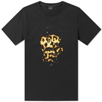 Paul Smith Flames Skull Print Tee Black