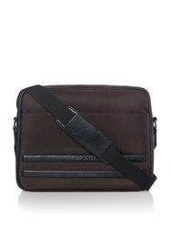 Ted Baker Iccube Nylon Messenger Bag Chocolate