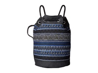 Toms Rebel Tribal Drawstring Black Stripe Drawstring Handbags