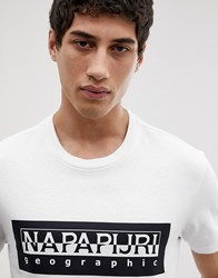Napapijri Tribe Sele Logo T Shirt In White