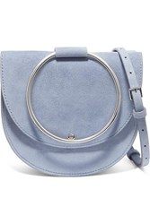 Theory Whitney Suede Shoulder Bag Blue