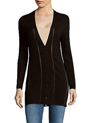 Maje Knit Button Down Cardigan Black