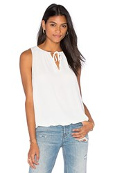 Three Eighty Two Lea Peasant Tank Ivory