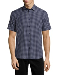 Bogosse Mini D Robin 482 Plaid Short Sleeve Shirt Gray