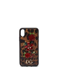 Dolce And Gabbana Dauphine Iphone X Case Leopard