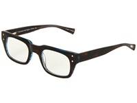 Eyebobs Mr. Digler Readers Brown Stripe Aqua Back Reading Glasses Sunglasses Black