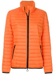 Emilio Pucci Short Padded Coat Polyester Yellow Orange