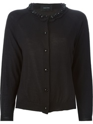 Simone Rocha Embellished Collar Cardigan Black