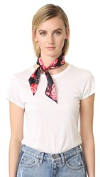 Kate Spade New York Rosa Silk Skinny Scarf Black