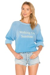 Wildfox Couture Walking On Sunshine Pullover Blue