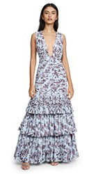 Fame And Partners The Dahlia Dress Floral Paisley Blue
