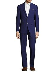 Tallia Regular Fit Checked Wool Suit Blue
