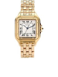 Cartier Vintage 18K Yellow Gold Panthere Watch Gold One Colour