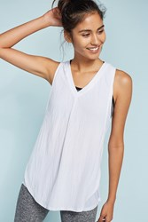 Anthropologie Layered V Neck Tank Top White
