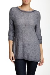 Luma Crochet Trim Sweater Gray