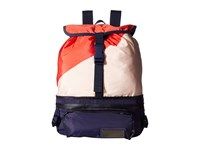 Adidas By Stella Mccartney Run Convertible Backpack Bright Red Noble Ink Gunmetal