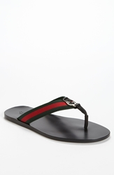 Gucci 'Gg Line' Flip Flop Men Black