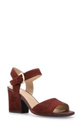 Geox Women's Marilyse Ankle Strap Sandal Cigar Suede