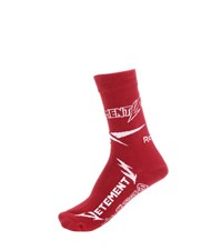 Vetements Cotton Blend Socks Red