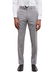 Jaeger Super 100S Wool Regular Fit Suit Trousers Grey