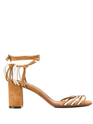 L'autre Chose Strappy Sandals Neutrals