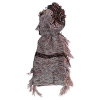 French Connection Floral Fringe Scarf Berry Mix