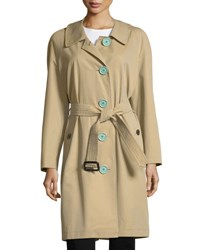 Burberry Brinkhill Oversized Button Trench Coat Light Brown